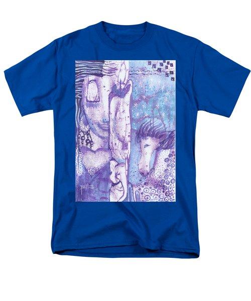 Men's T-Shirt  (Regular Fit) featuring the mixed media Calling Upon The Spirit Animals by Prerna Poojara