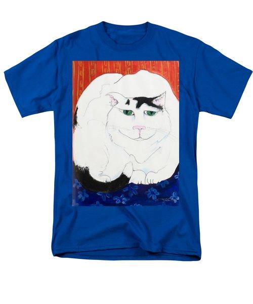 Cat II - Cat Dozing Off Men's T-Shirt  (Regular Fit) by Leela Payne