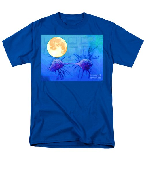 Men's T-Shirt  (Regular Fit) featuring the painting Cell Division Under Full Moon by Mojo Mendiola