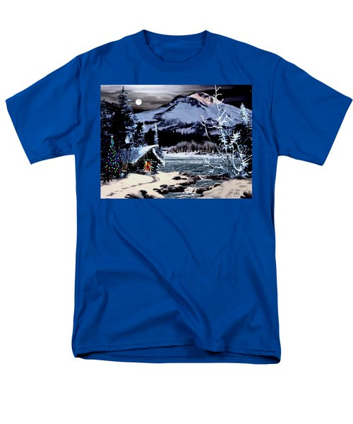 Christmas At The Lake V2 Men's T-Shirt  (Regular Fit) by Ron Chambers