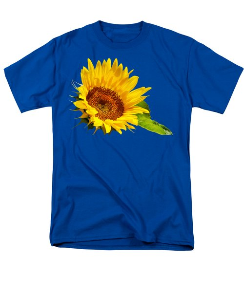 Color Me Happy Sunflower Men's T-Shirt  (Regular Fit)
