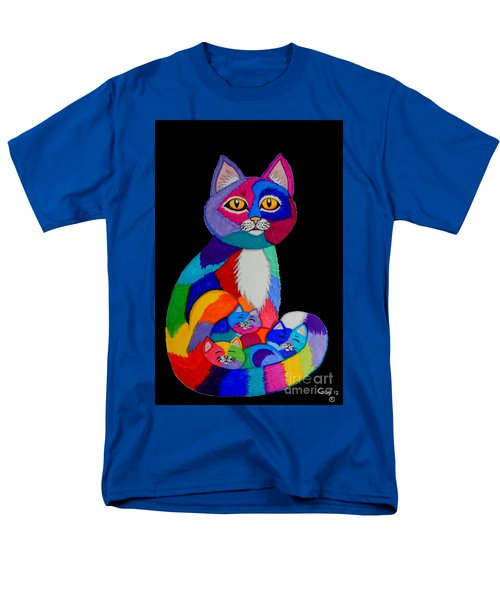 Colorful Cats And Kittens Men's T-Shirt  (Regular Fit) by Nick Gustafson
