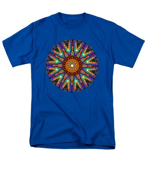 Colorful Christmas Kaleidoscope By Kaye Menner Men's T-Shirt  (Regular Fit) by Kaye Menner