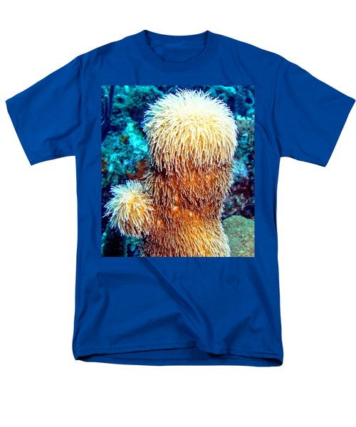 Men's T-Shirt  (Regular Fit) featuring the photograph Corky Sea Finger Coral - The Muppet Of The Deep by Amy McDaniel