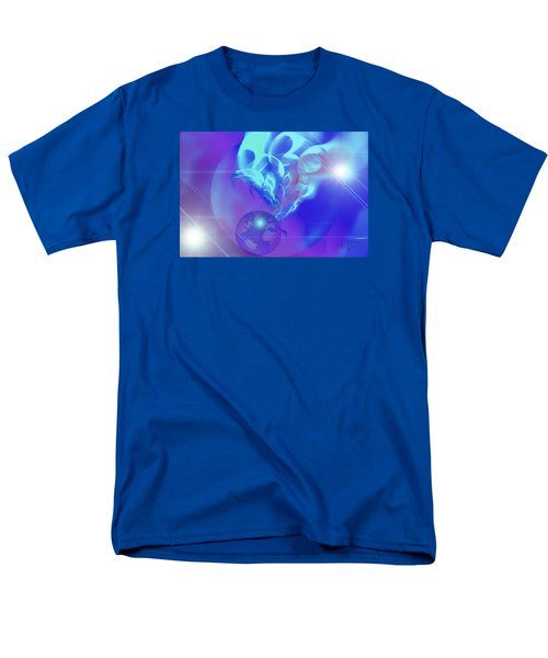 Men's T-Shirt  (Regular Fit) featuring the digital art Cosmic Wave by Ute Posegga-Rudel