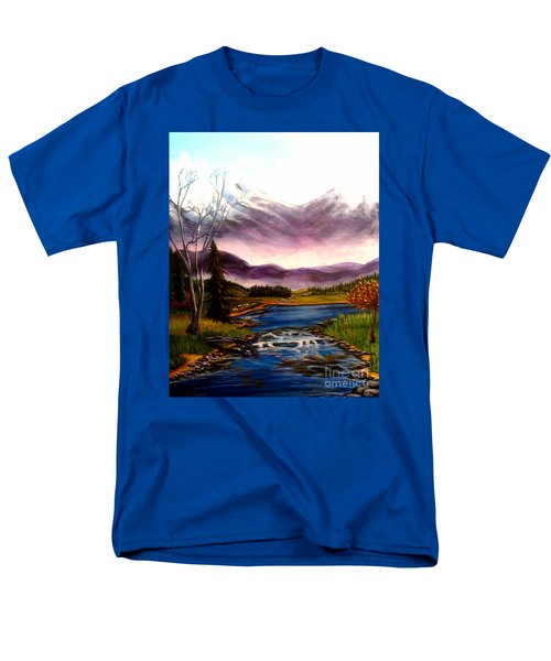 Crystal Lake With Snow Capped Mountains Men's T-Shirt  (Regular Fit) by Kimberlee Baxter