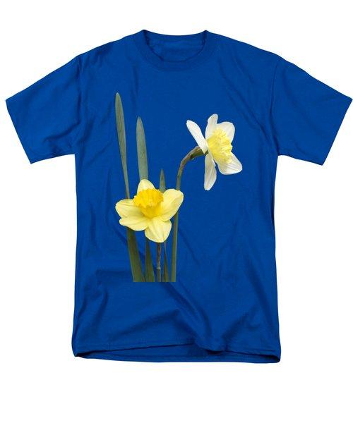 Men's T-Shirt  (Regular Fit) featuring the photograph Daffodil Pair - Transparent by Nikolyn McDonald
