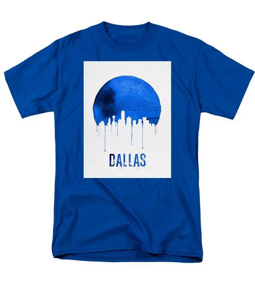 Dallas Skyline Blue Men's T-Shirt  (Regular Fit) by Naxart Studio