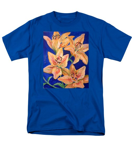 Men's T-Shirt  (Regular Fit) featuring the painting Day Lilies by Laura Aceto