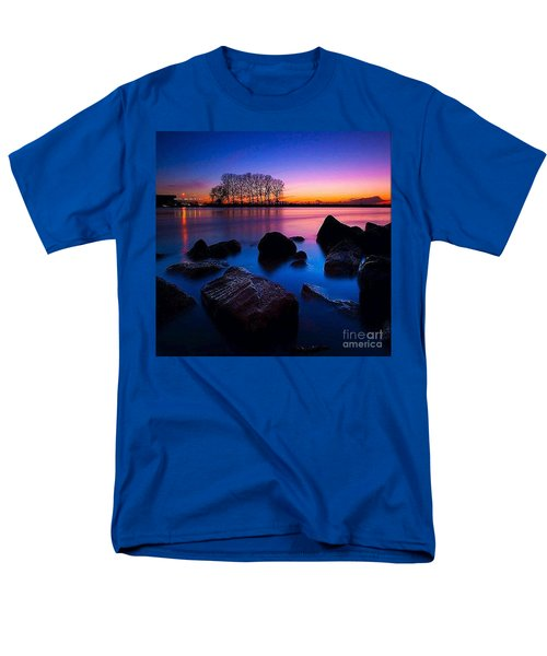 Distant Shores At Night Men's T-Shirt  (Regular Fit) by Rod Jellison