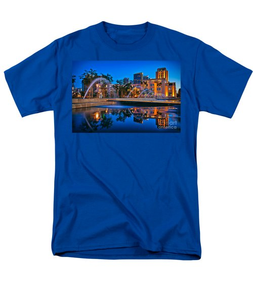 Downtown San Diego Waterfront Park Men's T-Shirt  (Regular Fit) by Sam Antonio Photography