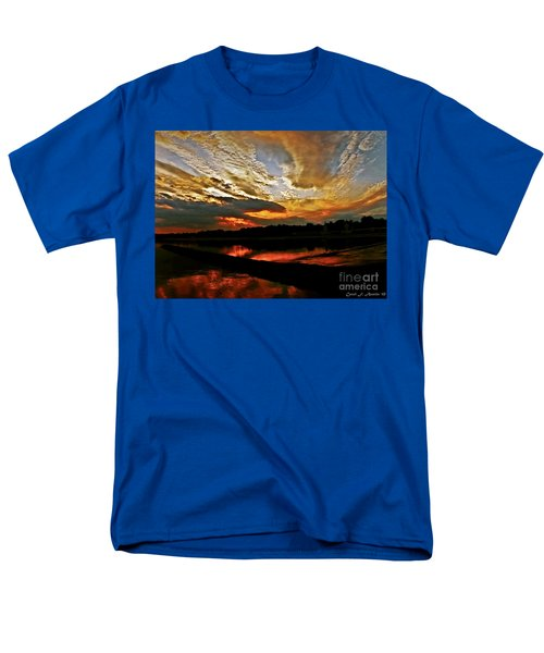 Drama In The Sky At The Sunset Hour Men's T-Shirt  (Regular Fit) by Carol F Austin