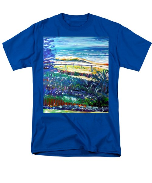 Men's T-Shirt  (Regular Fit) featuring the painting Dune Grasses by Winsome Gunning