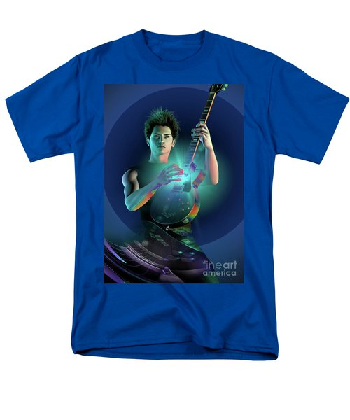 Electric Blue Men's T-Shirt  (Regular Fit) by Shadowlea Is