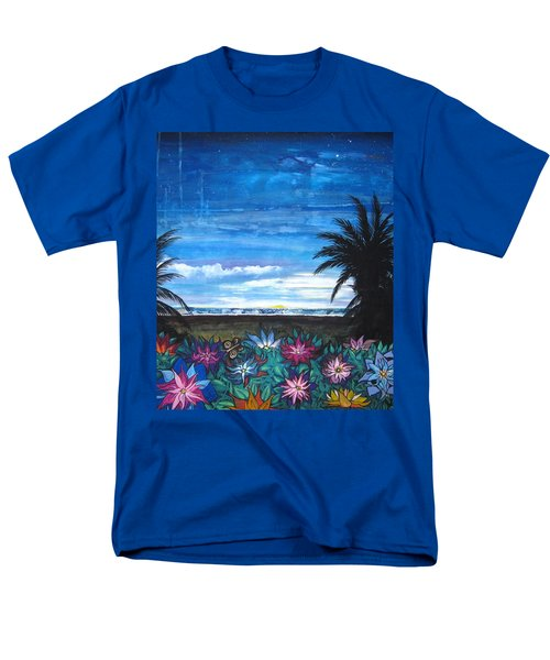 Men's T-Shirt  (Regular Fit) featuring the painting Tropical Evening by Mary Ellen Frazee