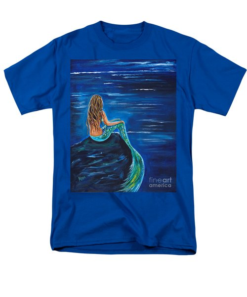 Evening Tide Mermaid Men's T-Shirt  (Regular Fit) by Leslie Allen