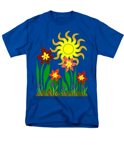 Fanciful Flowers Men's T-Shirt  (Regular Fit) by Shawna Rowe