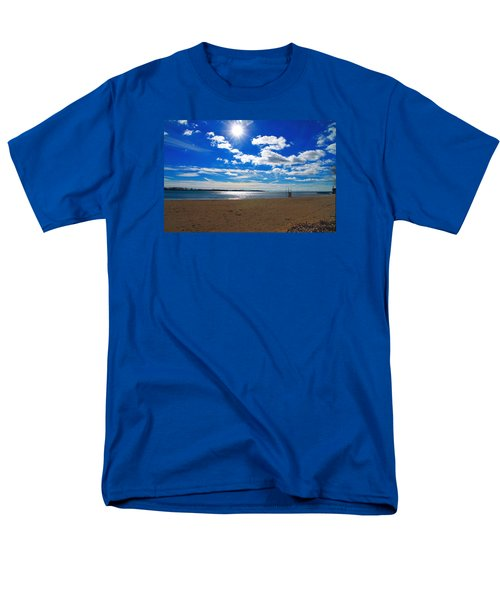 Men's T-Shirt  (Regular Fit) featuring the photograph February Blue by Valentino Visentini