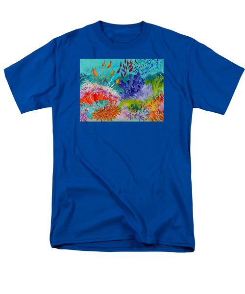 Men's T-Shirt  (Regular Fit) featuring the painting Feeding Time On The Reef #2 by Lyn Olsen