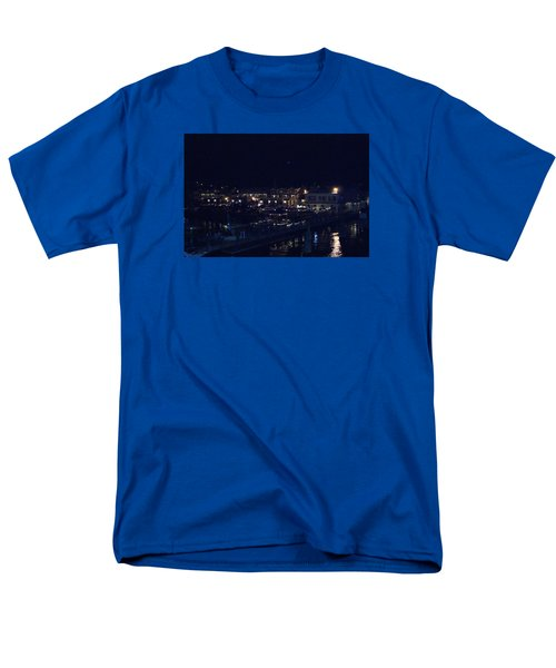 Men's T-Shirt  (Regular Fit) featuring the photograph Festive Harbor Lights by Margie Avellino