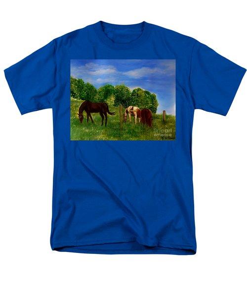Field Of Horses' Dreams Men's T-Shirt  (Regular Fit) by Kimberlee Baxter