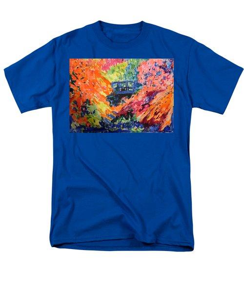 Floral View Of The Bridge Men's T-Shirt  (Regular Fit) by Esther Newman-Cohen