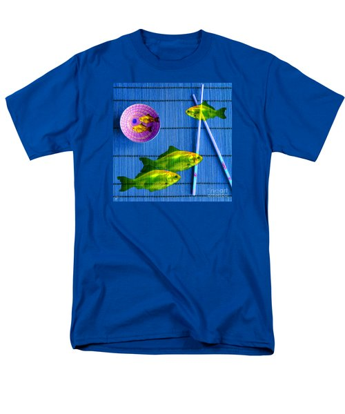 Flying Fish And The Pink Moon Men's T-Shirt  (Regular Fit) by LemonArt Photography