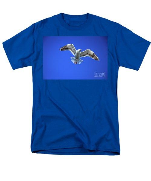 Flying Gull Men's T-Shirt  (Regular Fit) by Robert Bales