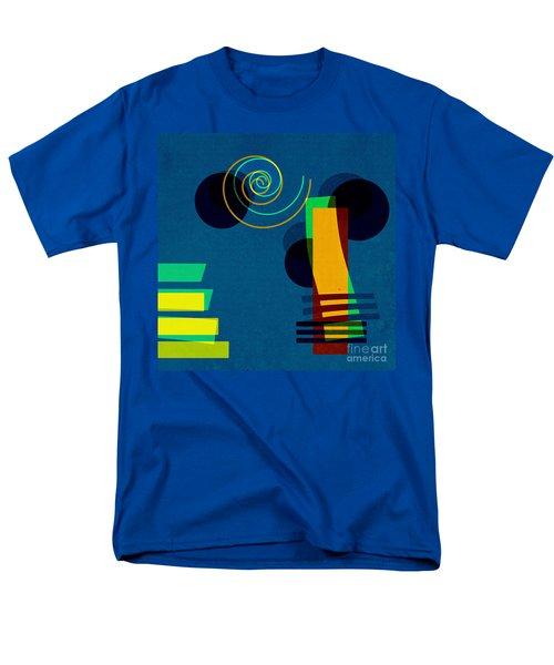 Men's T-Shirt  (Regular Fit) featuring the digital art Formes - 03b by Variance Collections