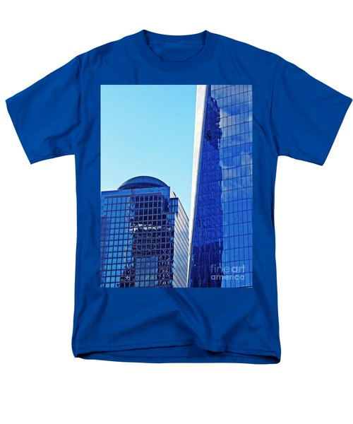 Men's T-Shirt  (Regular Fit) featuring the photograph Freedom Tower And 2 World Financial Center by Sarah Loft