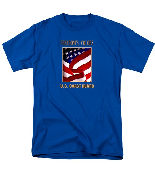 Freedom's Colors Uscg Men's T-Shirt  (Regular Fit) by George Robinson