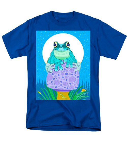 Men's T-Shirt  (Regular Fit) featuring the digital art Full Moon Froggy  by Nick Gustafson