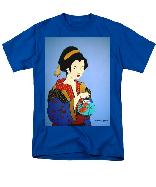 Men's T-Shirt  (Regular Fit) featuring the painting Geisha With Fish by Stephanie Moore