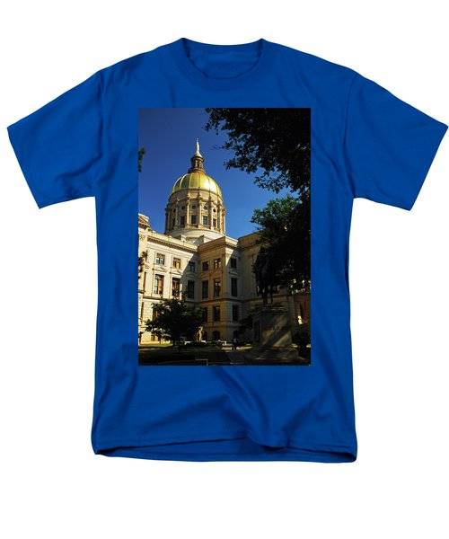 Georgia State Capitol Men's T-Shirt  (Regular Fit) by James Kirkikis