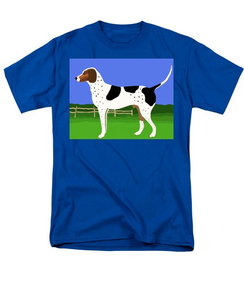German Shorthaired Pointer In A Field Men's T-Shirt  (Regular Fit)