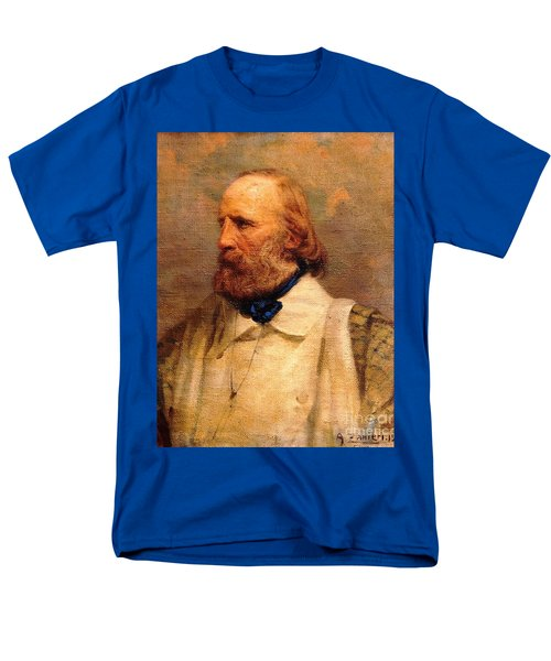 Men's T-Shirt  (Regular Fit) featuring the painting Giuseppe Garibaldi by Pg Reproductions