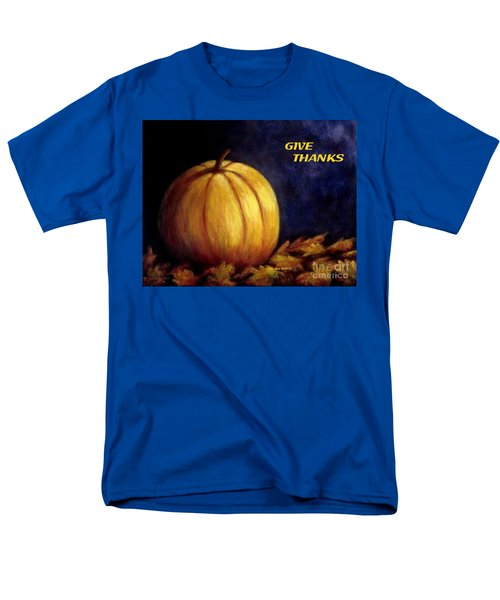 Give Thanks Autumn Painting Men's T-Shirt  (Regular Fit) by Annie Zeno