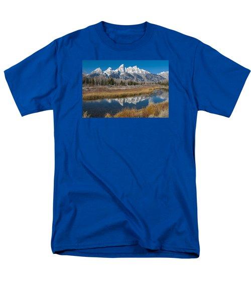 Men's T-Shirt  (Regular Fit) featuring the photograph Grand Tetons by Gary Lengyel