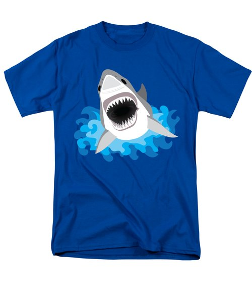 Great White Shark Leaps From Waves Men's T-Shirt  (Regular Fit) by Antique Images