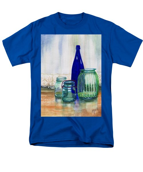 Men's T-Shirt  (Regular Fit) featuring the painting Green Jars Still Life by Marilyn Smith