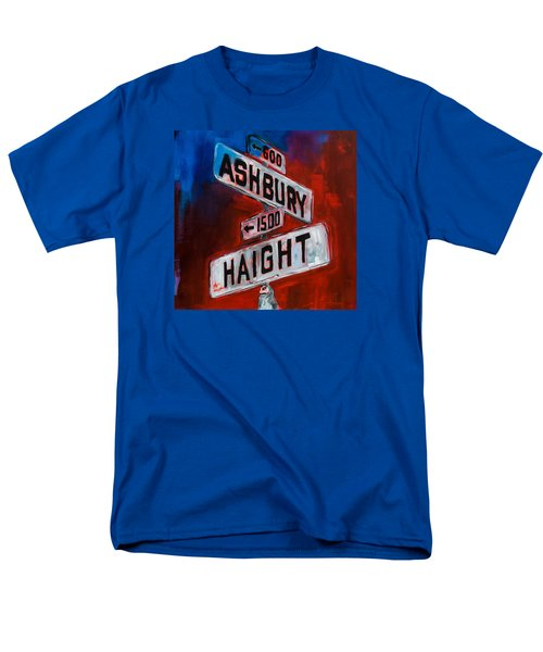 Men's T-Shirt  (Regular Fit) featuring the painting Haight And Ashbury by Elise Palmigiani