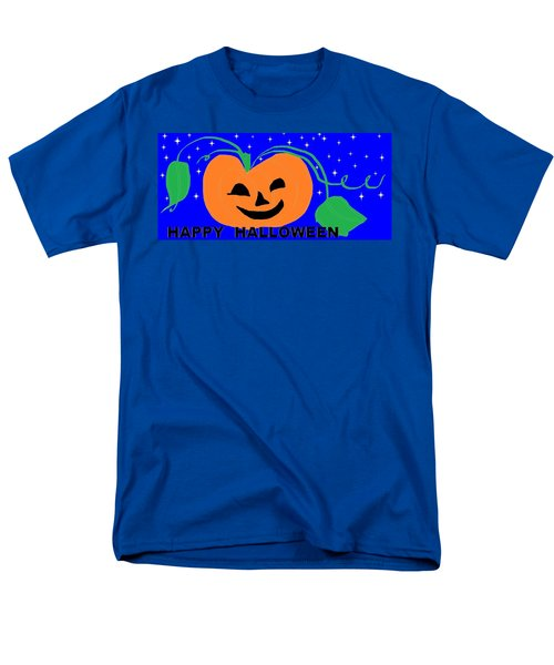 Happy Halloween 1 Men's T-Shirt  (Regular Fit) by Linda Velasquez