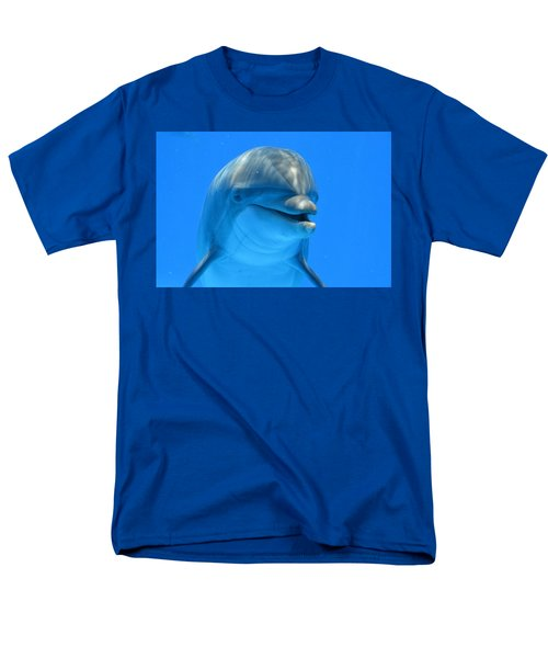 Happy Smiling Dolphin Men's T-Shirt  (Regular Fit) by Richard Bryce and Family
