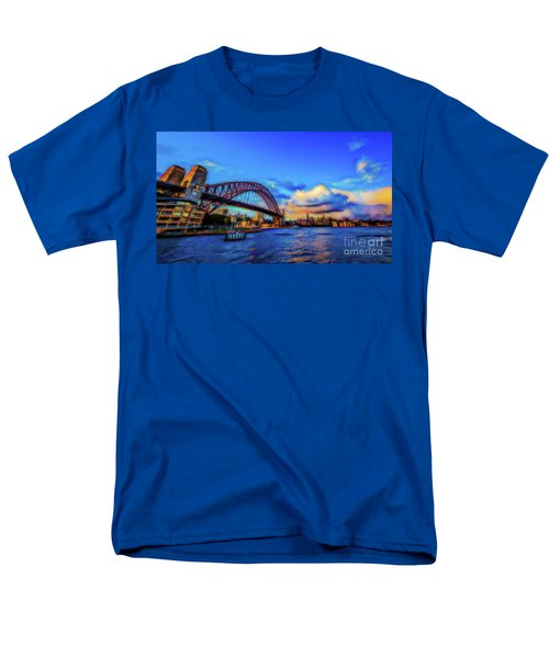 Men's T-Shirt  (Regular Fit) featuring the photograph Harbor Bridge by Perry Webster