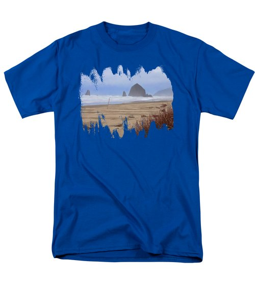 Haystack Rock Men's T-Shirt  (Regular Fit) by Thom Zehrfeld