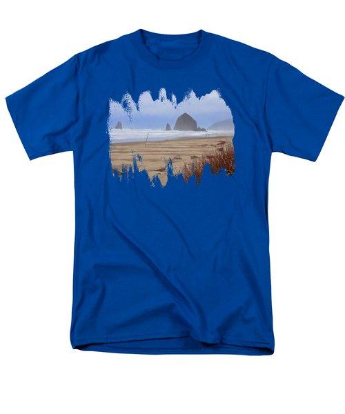 Haystack Rock Men's T-Shirt  (Regular Fit)