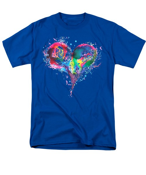 Hearts 6 T-shirt Men's T-Shirt  (Regular Fit) by Herb Strobino