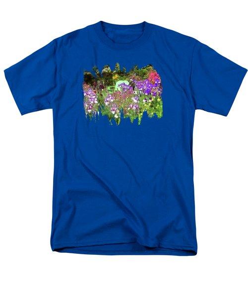 Men's T-Shirt  (Regular Fit) featuring the photograph Hiding In The Garden by Thom Zehrfeld