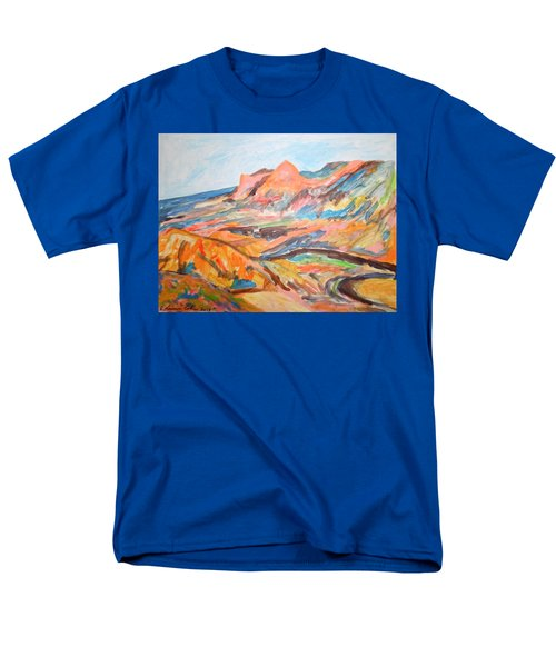 Hills Flowing Down To The Beach Men's T-Shirt  (Regular Fit) by Esther Newman-Cohen