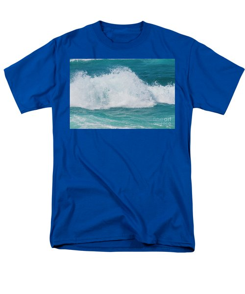Hookipa Splash Waves Beach Break Shore Break Pacific Ocean Maui  Men's T-Shirt  (Regular Fit) by Sharon Mau